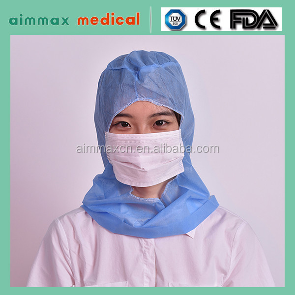 3 Ply PP Non Woven Disposable Face Mask with Latex Free Round Earloop For Medical or Surgical Use
