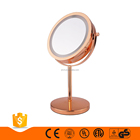 1x/5x promotion magnifying lights up table mirror double sided vanity rose gold makeup mirror