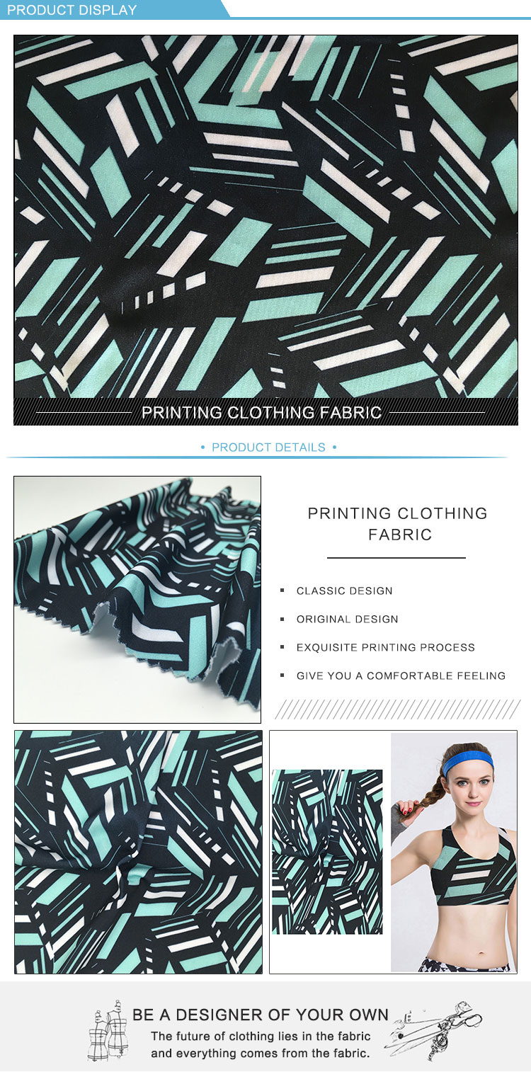New design cheap fancy digital printing 100 percent polyester double layer tracksuit fabric