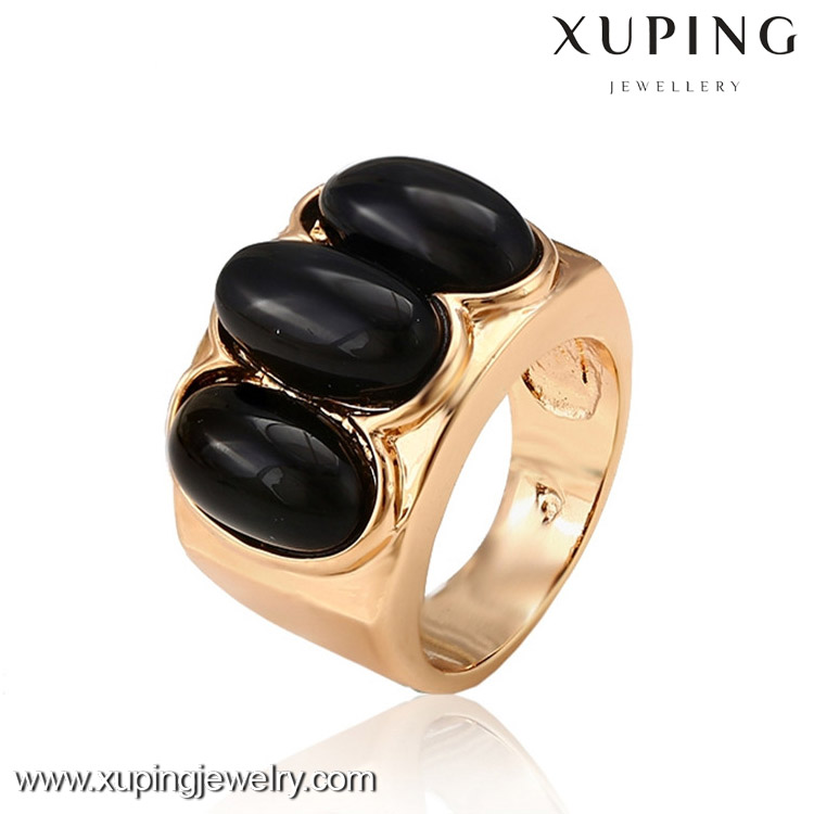 12989 Factory supply 18k gold color finger ring designs women