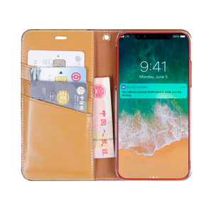 Business type folding folio wallet leather phone case for iphone x