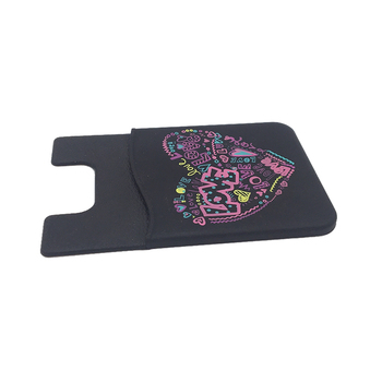 Black small gifts can be customized silicone cell phone card holder