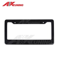 Plastic / carbon fiber 2 holes and 4 holes American Car license plate frame with OEM logo
