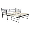 Living Room Metal Frame Twin Size Sofa Daybed With Trundle Y