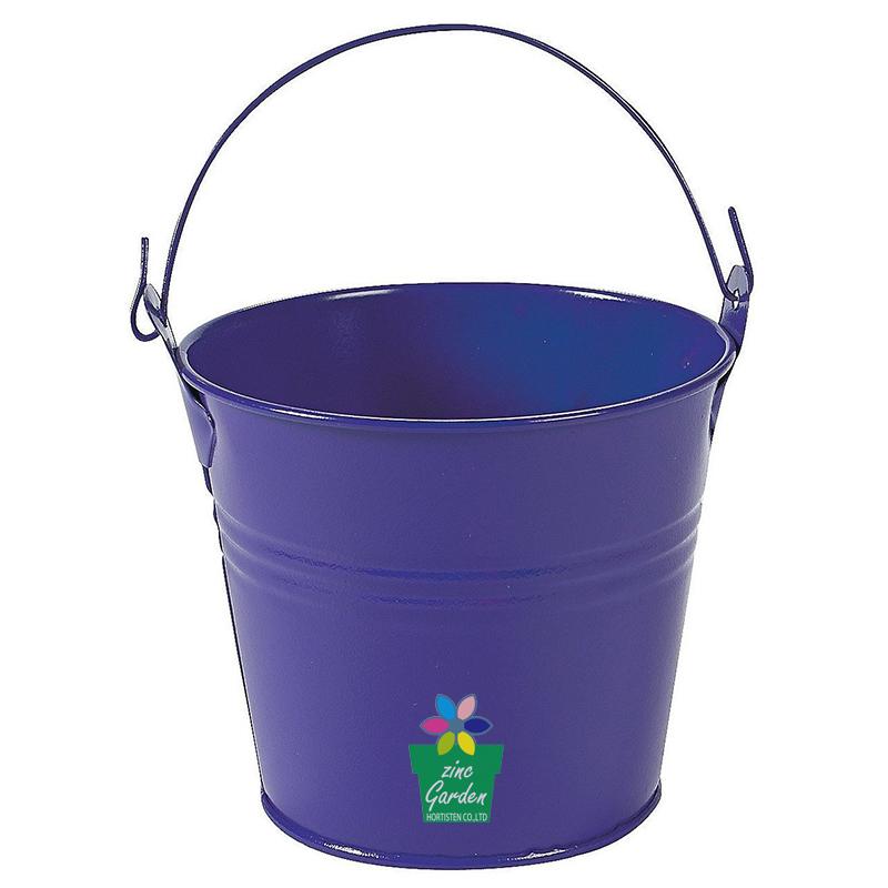 Galvanized Bright Colorful Zinc Garden Pail Weeding Gift Bucket   Buy  Mecket Bucket,Small Bucket,Hanging Galvanied Bucket Product On Alibaba.com
