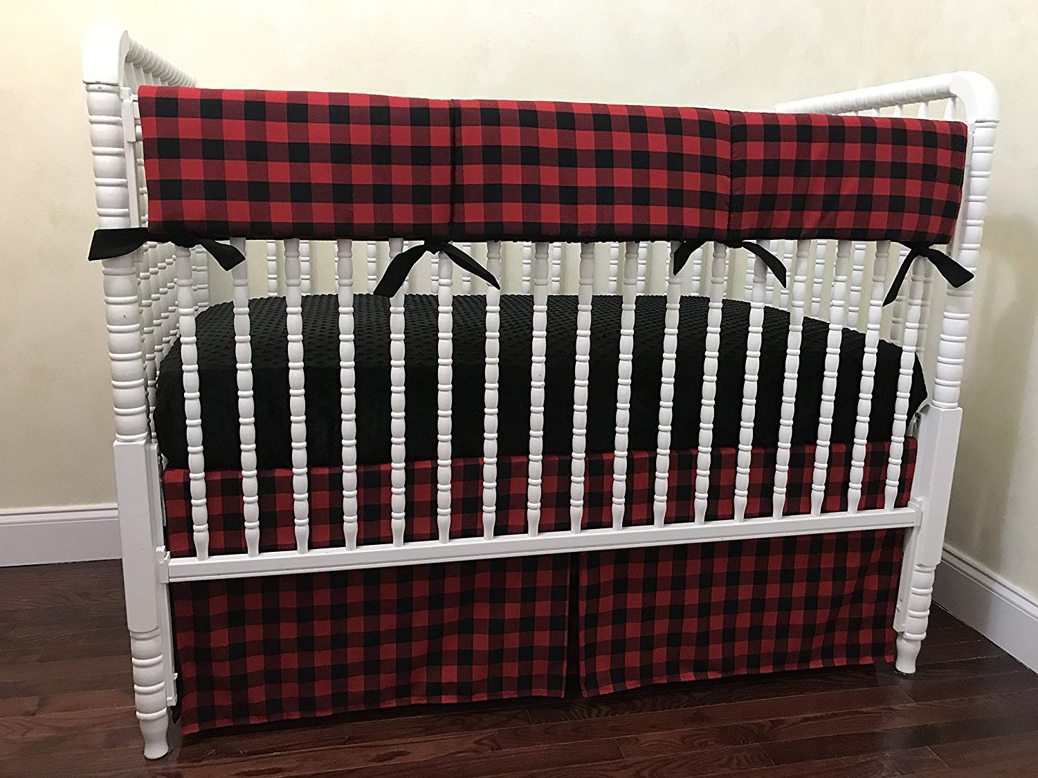 e23f89147 Get Quotations · Nursery Bedding, Bumperless Baby Crib Bedding Set, Baby  Boy Bedding, Teething Rail Guard