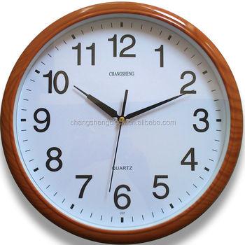 14 Pulgadas Reloj De Pared De Plástico Con Imitación Madera Reloj ...