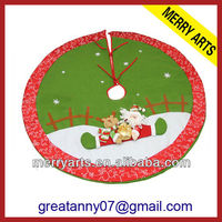 Alibaba china new christmas decoration 36 quilted christmas tree skirts Wholesale X'mas tree skirt