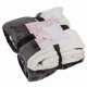 Winter blankets 100% Polyester Customized Double Sides Throw Flannel Fleece Sherpa Blanket Sherpa