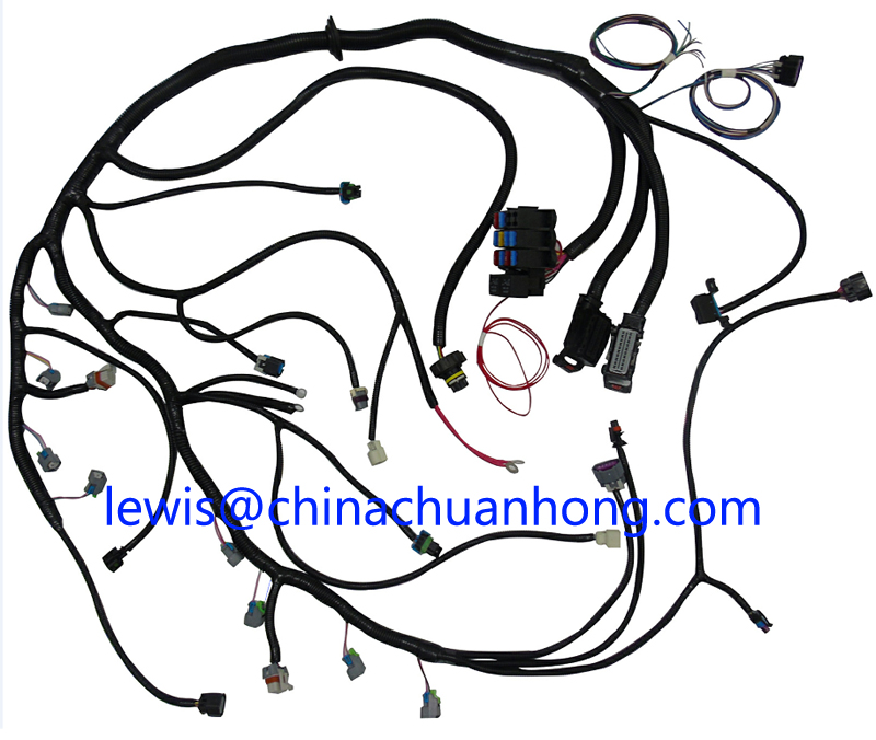 6l80e 6l90e t43 tcm transmission connector pigtail wire harness - gm ls1  ls2 ls3 vortec 24x