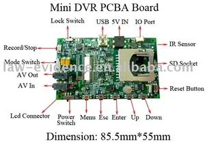 Mini DVR PCBA Board