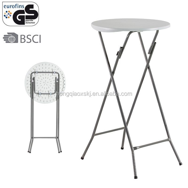 black/white resin 2ft 60cm pub table and chairs stackable outdoor party