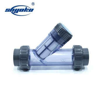 Wholesale plastic Y type pvc water strainer