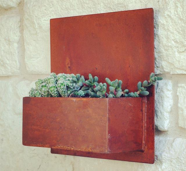 barato pequeo decorativo rstico acero corten macetas y jardineras