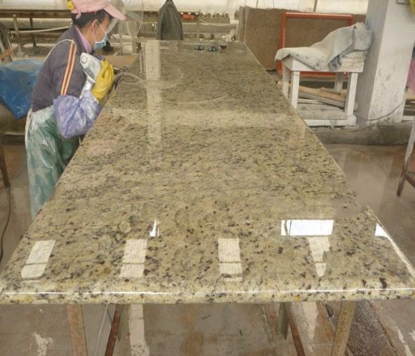 Ouro Brazil Granite Kitchen: Bancada De Granito Ouro Brasil Para Venda