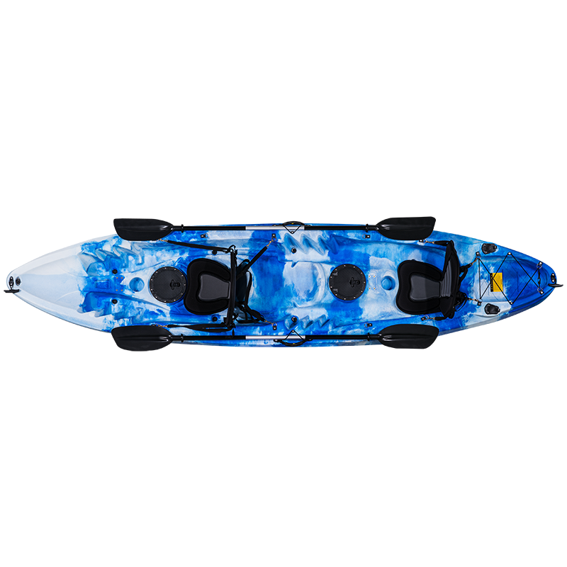 2-3 persona non gonfiabile sit on top kayak da pesca, rotomolded LLDPE MATERIALE barca a remi