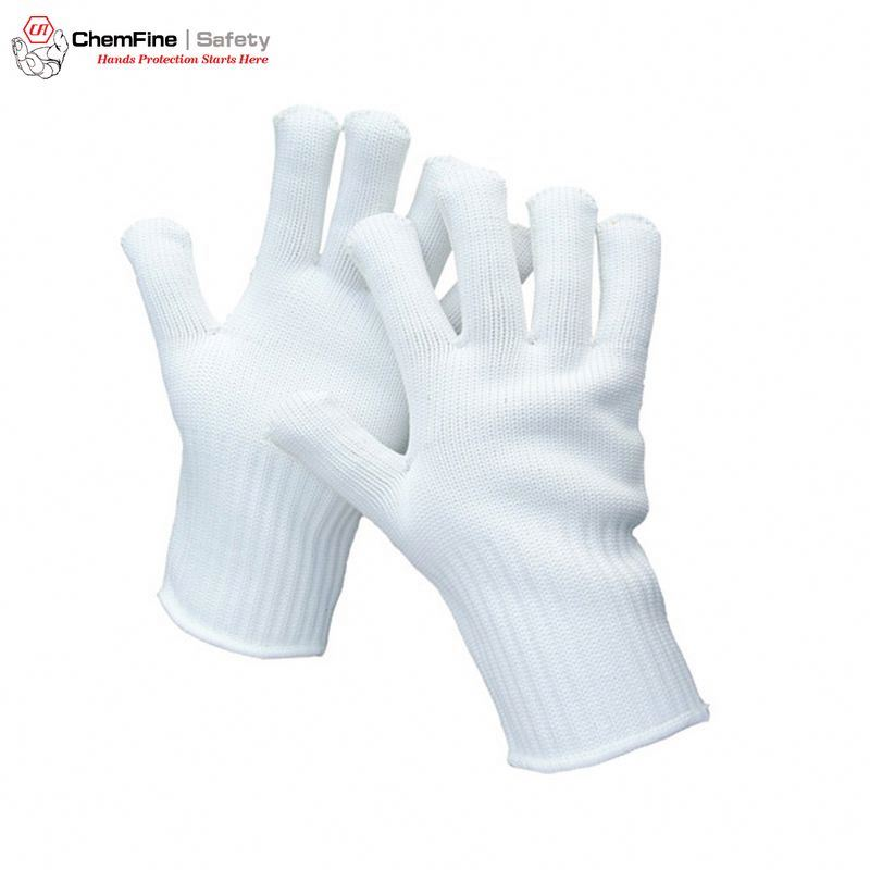 white cotton police glove gants