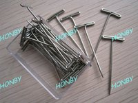 38mm stainless steel jewelry T pin by plastic box packing