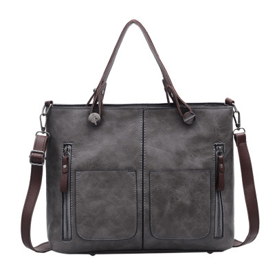 Fashion Vintage Women Shoulder Bag Female Causal <strong>Totes</strong> for Daily Shopping All-Purpose High Quality Handbag