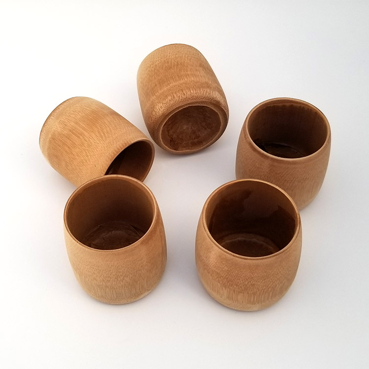 Natural <strong>Bamboo</strong> Mug, also as <strong>Bamboo</strong> Toothbrush <strong>Holder</strong> or Coffee Cup, 100% Biodegradable