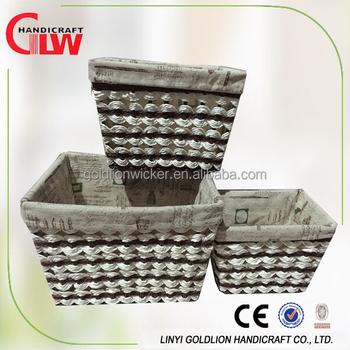Wholesale Paper Basket Weaving Patterns Handmade Paper Gift Baskets