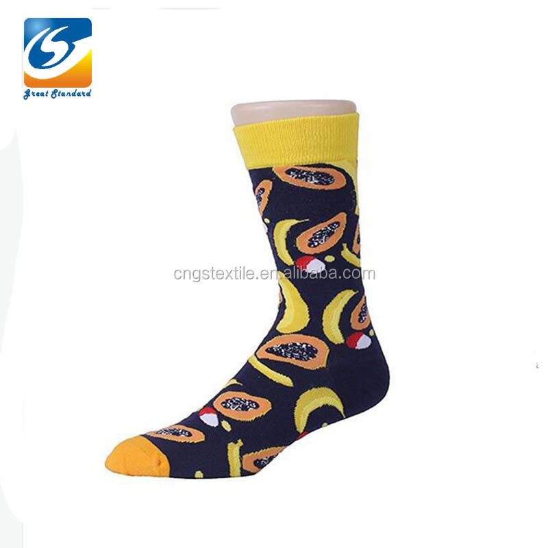 GSM-1077 Jacquard Fancy Knitted Cotton Mens Dress Socks