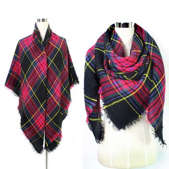 9ae474d10 Fashion Softextile Blanket Plaid Women Pashmina Scarf Factory China ...