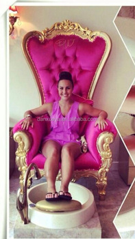 Pink Nail Bar Furniture Royal Throne Chairs Sofa Luxury