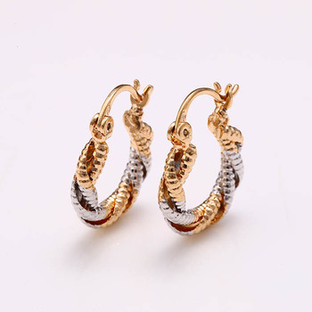 26393 New Latest Beautiful 3 Gram Gold Plated Earrings Designs For