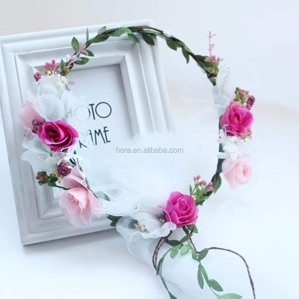 Beli indonesian set lot murah grosir indonesian set galeri gambar bunga terbaru crown veil lace potong pernikahan diy mahkota bunga dengan kerudung 2352e izmirmasajfo