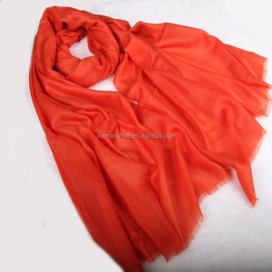 orange color kani pashmina shawl
