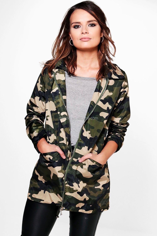 Veste a capuche militaire femme