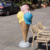 Outdoor decoration fiberglass squirrel cone ice cream statue NTFV-107Y