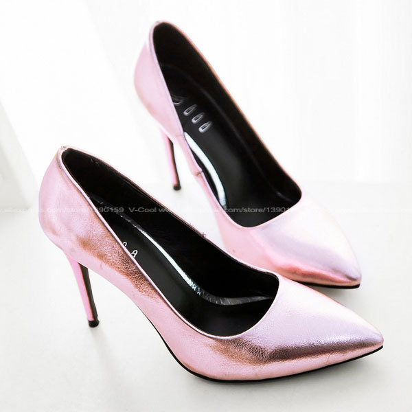5cb368cc272 Get Quotations · Hot Selling Women Purple Silver Leather Pumps Career Work Sexy  High Heels Ladies Dance Shoes Quality
