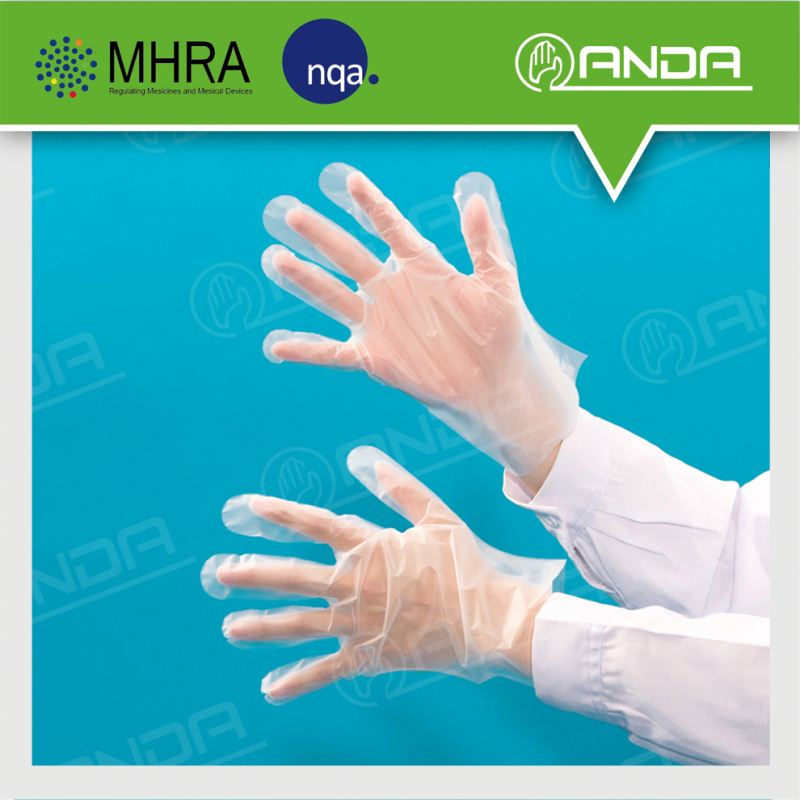 AD009 home Use 100% virgin plastic biodegradable transparent gloves