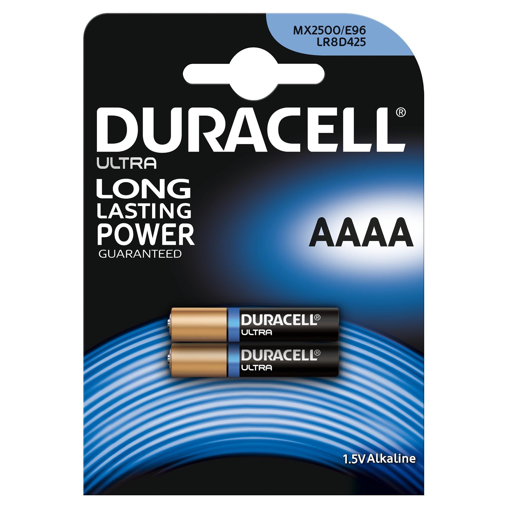 Duracell Ultra MN2500 Alkaline AAAA Batteries - Pack of 2