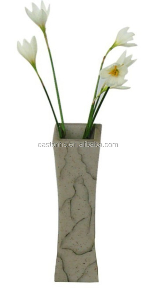 Personalized marble resin flower vase for hotel room