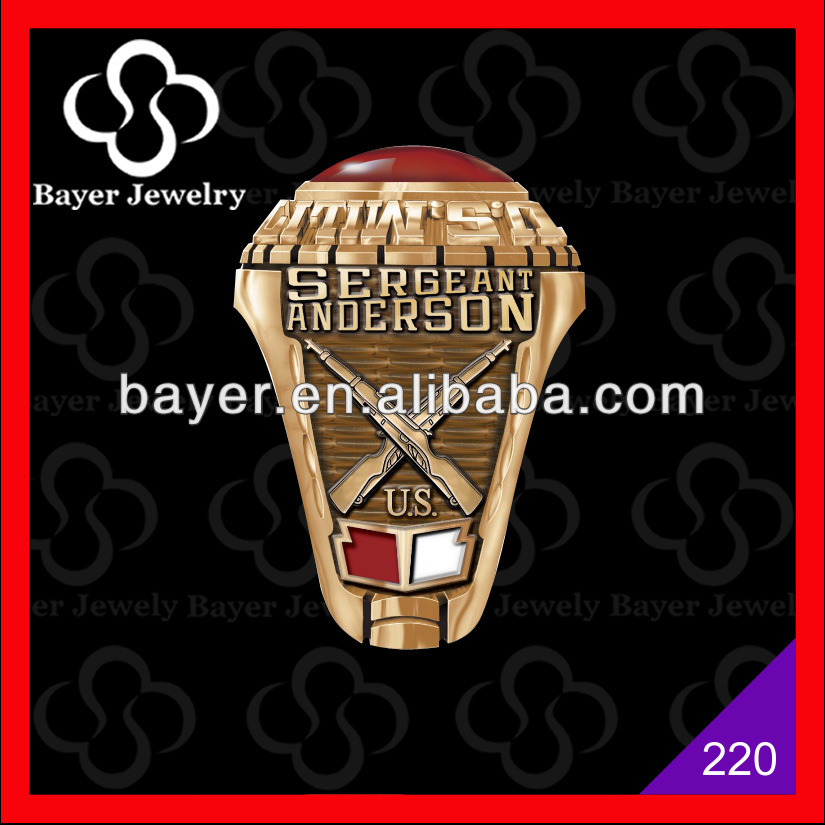 fashion wholesale military veteran ring
