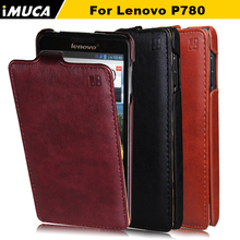 100% Quality Guarantee Original Leather Case for Lenovo P780 Vertical Flip Cover Mobile Phone Bags & Cases Accessories