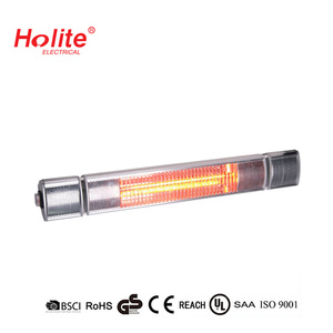Remote control Ultra Low glare 1500W electric infrared Heater with 80% reduction invisible light