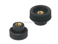 Knurled Plastic Knobs with through thread BK38.0077