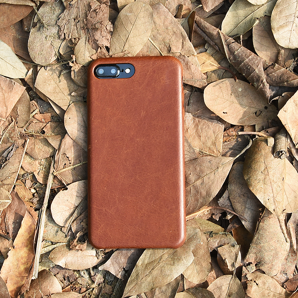 Vintage real leather phone case,for iphone 7plus leather case with own logo