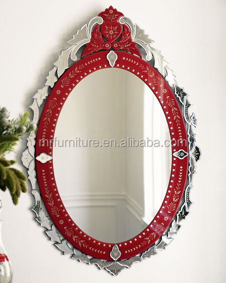 Colored Venetian Wall Mirror - Buy Red Color Murano Wall Mirror ...