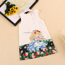 Summer cool new girls skirt frozen Aisha Anna Princess Dress Girls small vest skirt