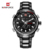 Men Sport Watches NAVIFORCE Brand Fashion Dual Display Watches LED Digital Watch Stainless Steel Gift Quartz Watch Wristwatches