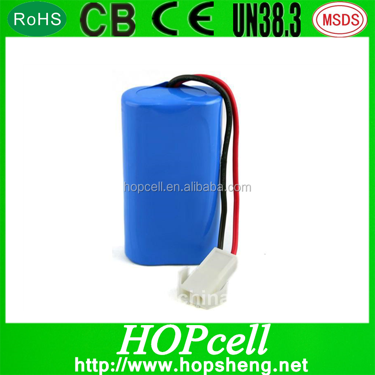 rechargeable li-ion battery 7.4v 2000mah 18650 battery for rc airplane and gps