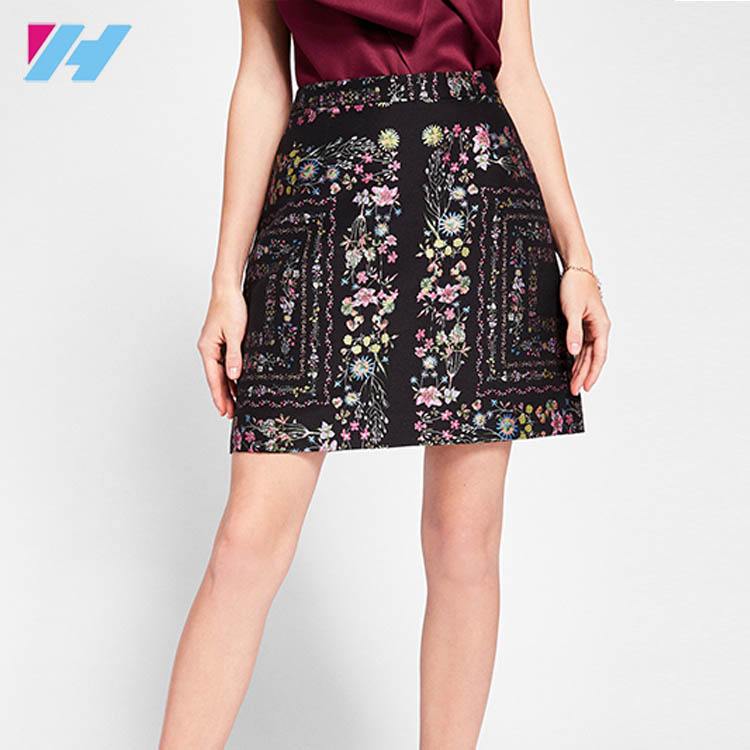 Unity Floral Skirt Fashion Designs Forever 21 With Stretch Lining And Exposed Zip Closure