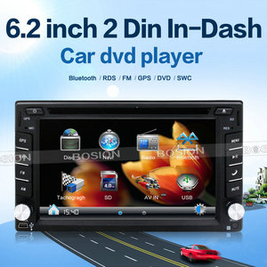 Double Din Car DVD Player GPS for Universal Car with Bluetooth Radio and  Rear Camera Input