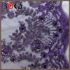 new arrival handmade women purple beaded fabric for dresses BK-FB359