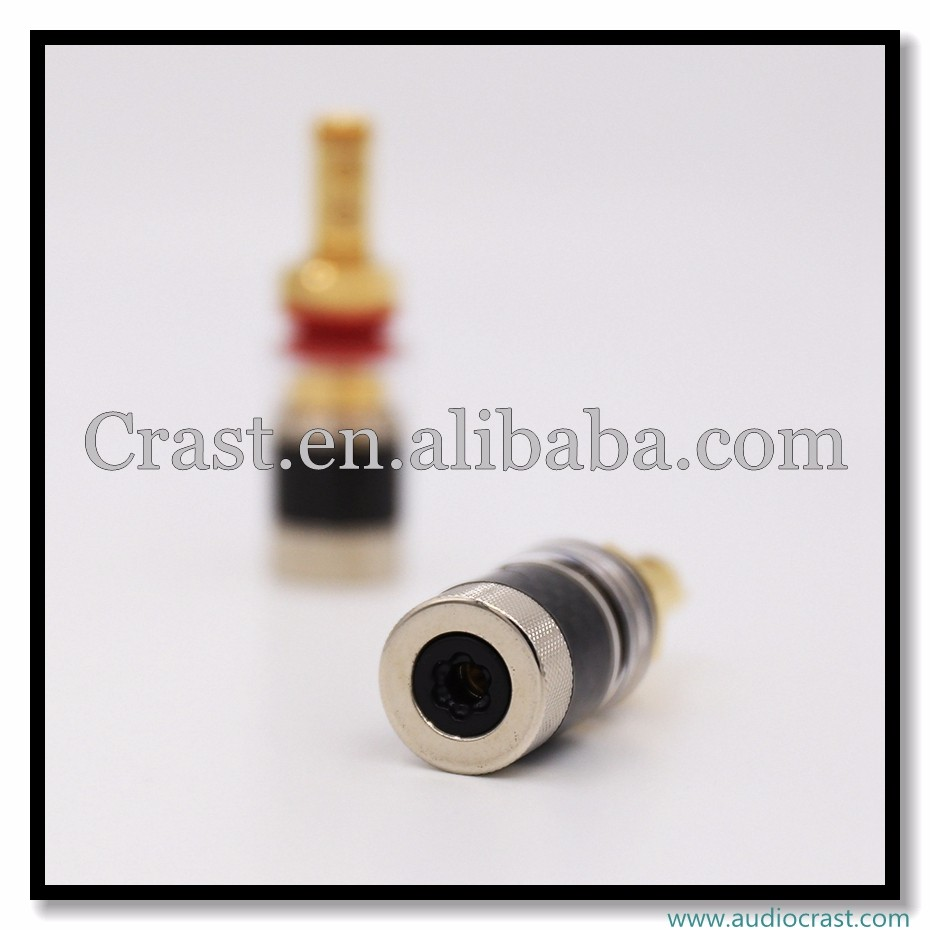 Carbon Fiber Gold plated binding posts copper spring binding posts